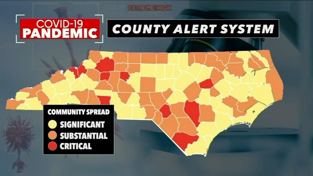 NC Coronavirus Task Force Unveils COVID-19 County Alert System