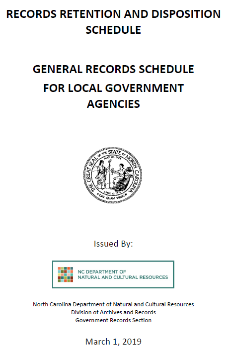 State Archives of N.C. Creates New Records Retention Requirements for LEAs